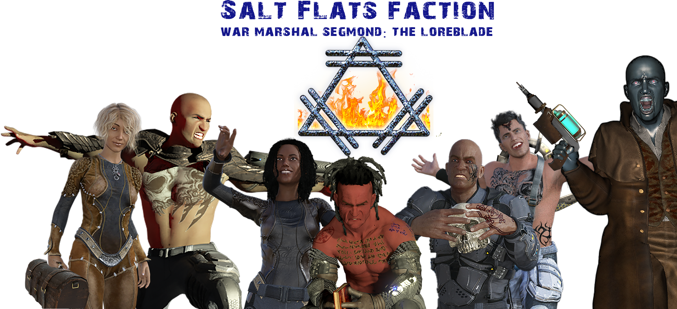 Salt Flats gang with faction title and sigil