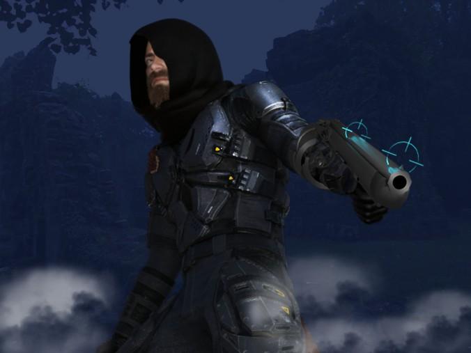 Blinkstriker profile versus blue backdrop
