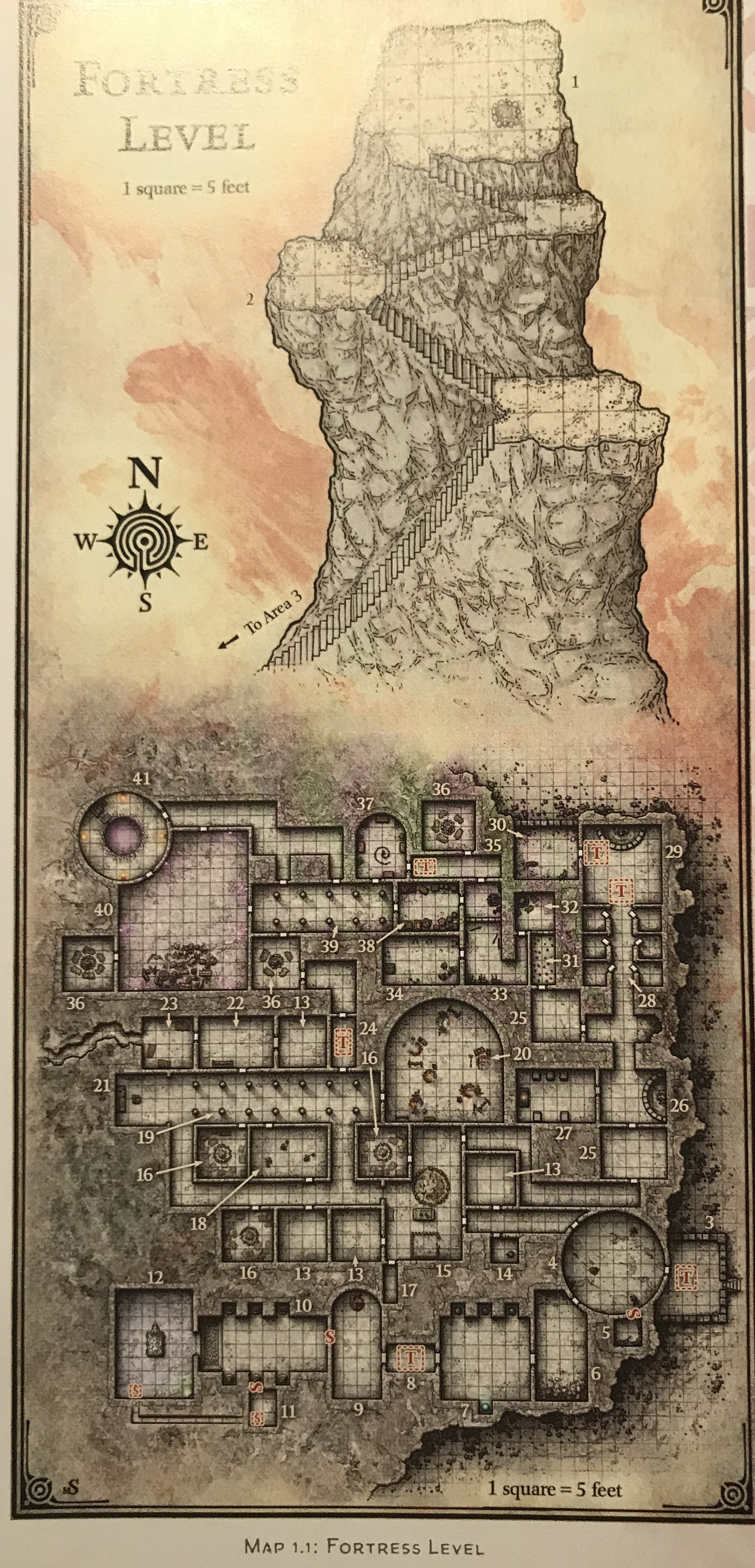 Sunless citadel map